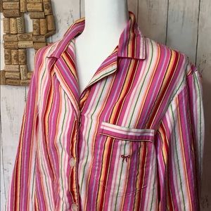 Victoria's Secret striped button down pajama shirt